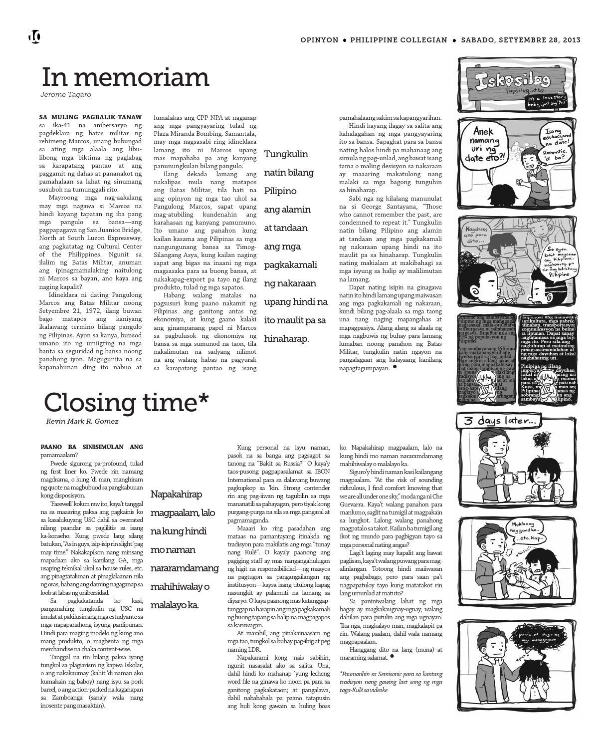 Philippine Collegian Issue 14 by Philippine Collegian - issuu