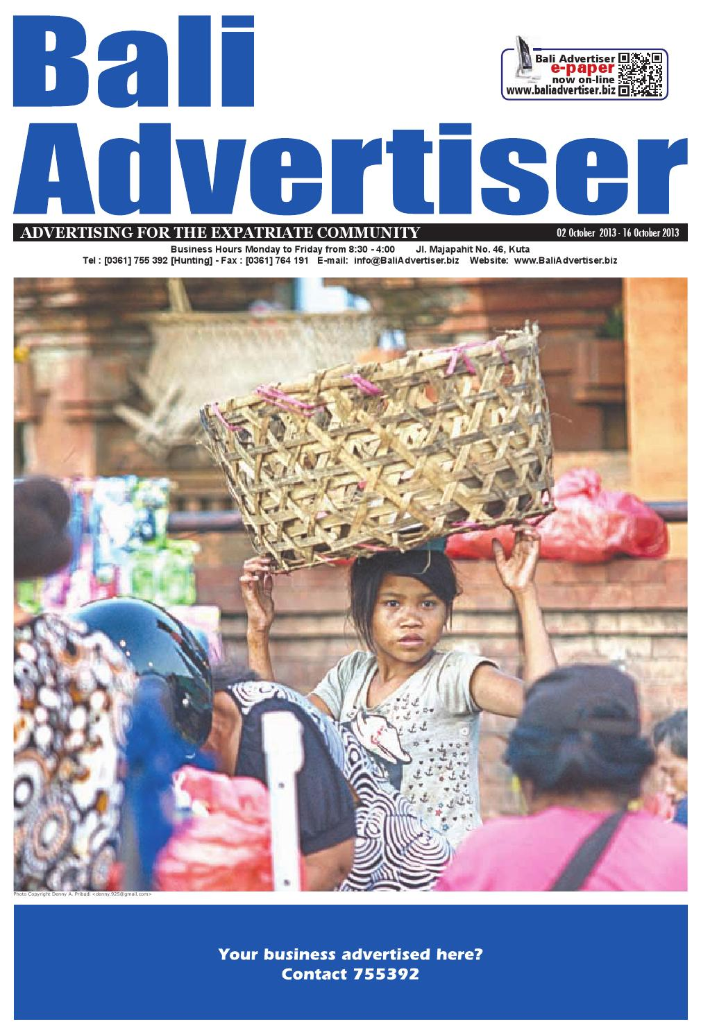 Ba 02 October 2013 By Bali Advertiser Issuu Ares Camel Nokha Sneakers Women Cokelat Muda 39