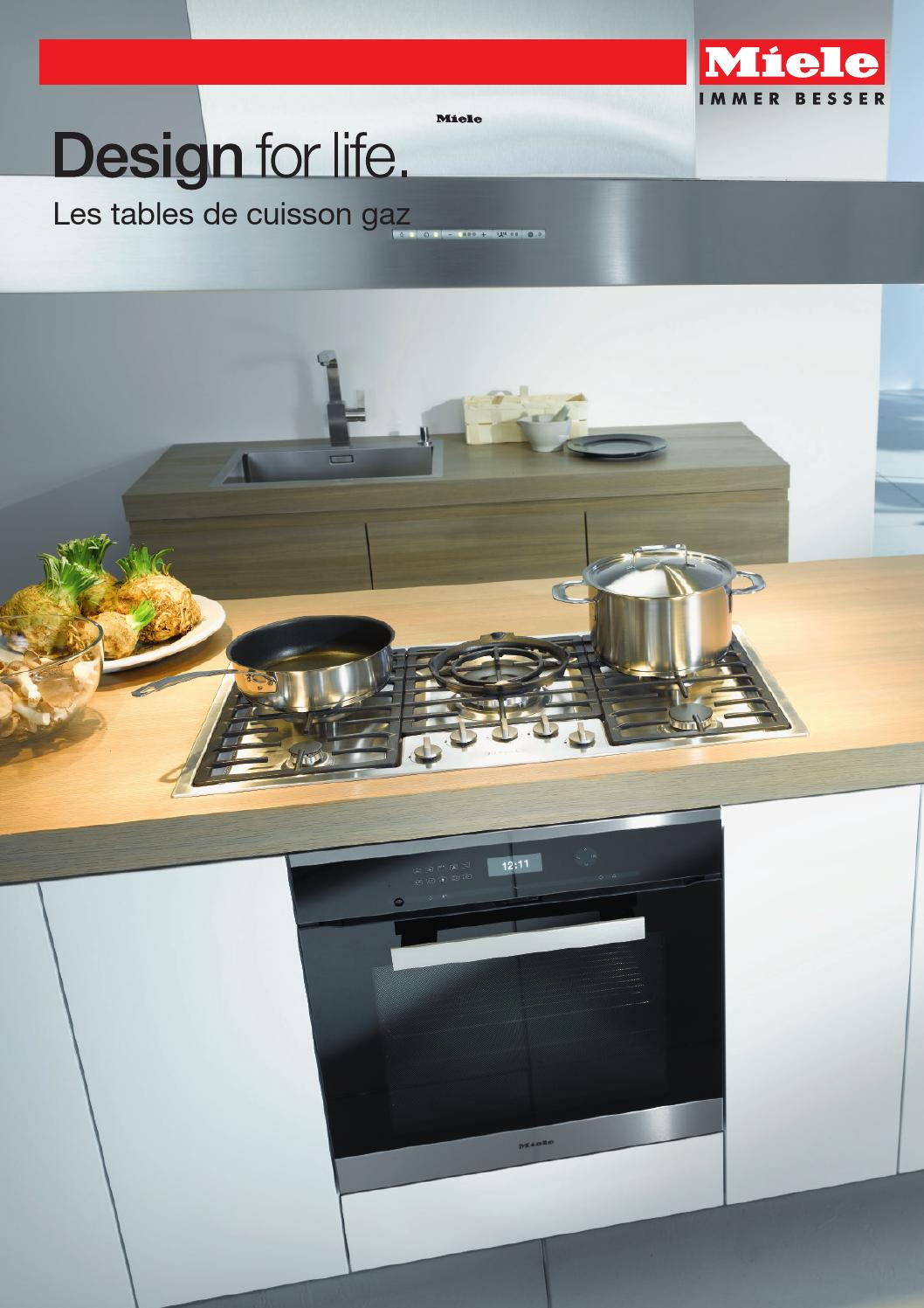 miele catalogue les tables de cuisson gaz fr by miele issuu. Black Bedroom Furniture Sets. Home Design Ideas