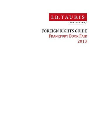 Frankfurt Book Fair 2013 Foreign Rights Guide By Ibtauris Issuu