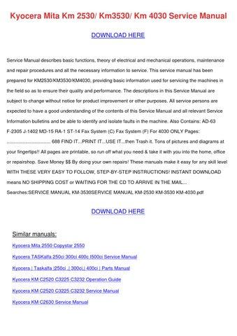 copystar cs 1650 cs 2050 service repair manual download