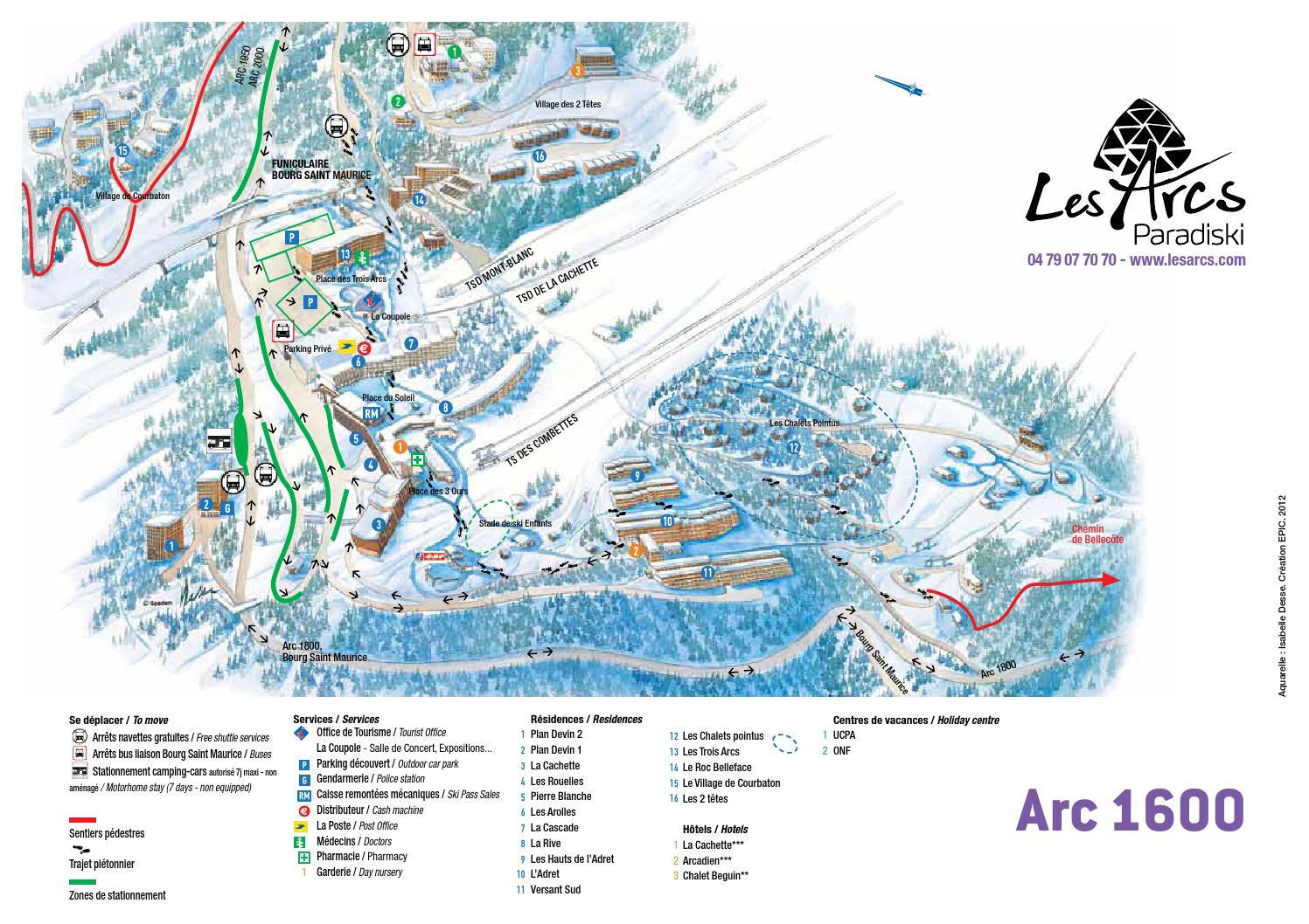 Plan arc 1600 by bourg saint maurice les arcs issuu - Office du tourisme bourg saint maurice ...