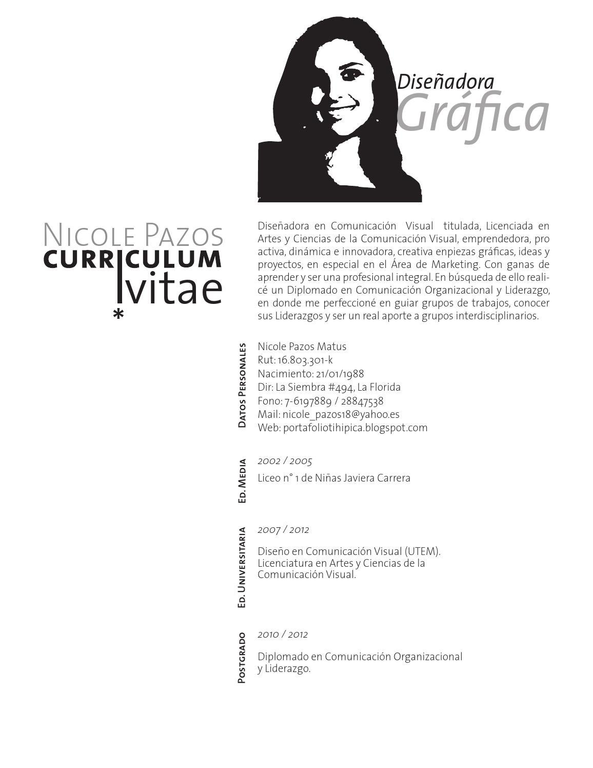 Curriculum nicole pazos by nicole pazos - issuu