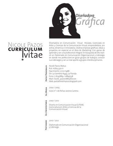 Curriculum Nicole Pazos By Nicole Pazos Issuu