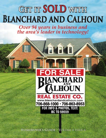 What real estate services does Blanchard and Calhoun offer?