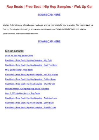 Rap Beats Free Beat Hip Hop Samples Wuk Up Ga by BevBeaman - issuu