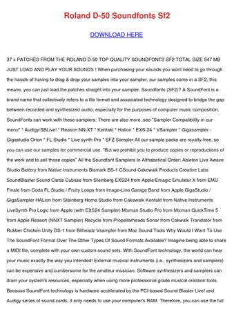 Roland D 50 Soundfonts Sf2 by DoyleCrist - issuu