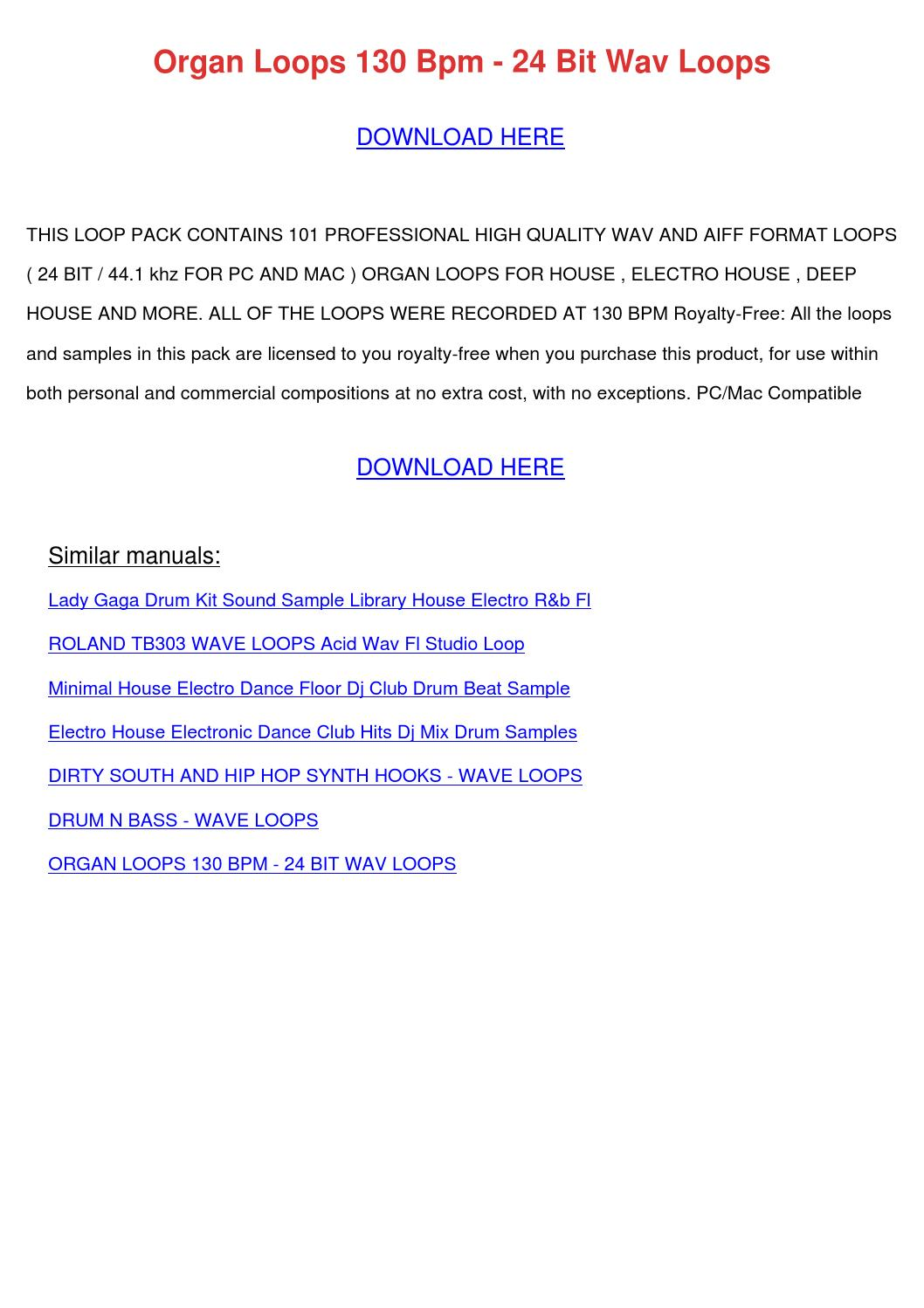 Organ Loops 130 Bpm 24 Bit Wav Loops by DoyleCrist - issuu