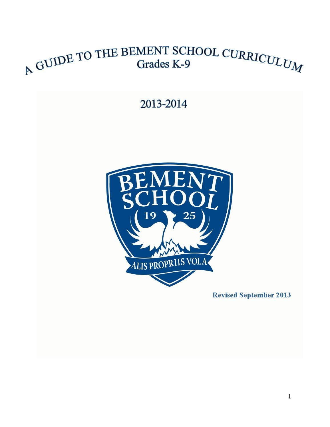 Curriculum guide 2013 2014 by The Bement School - issuu