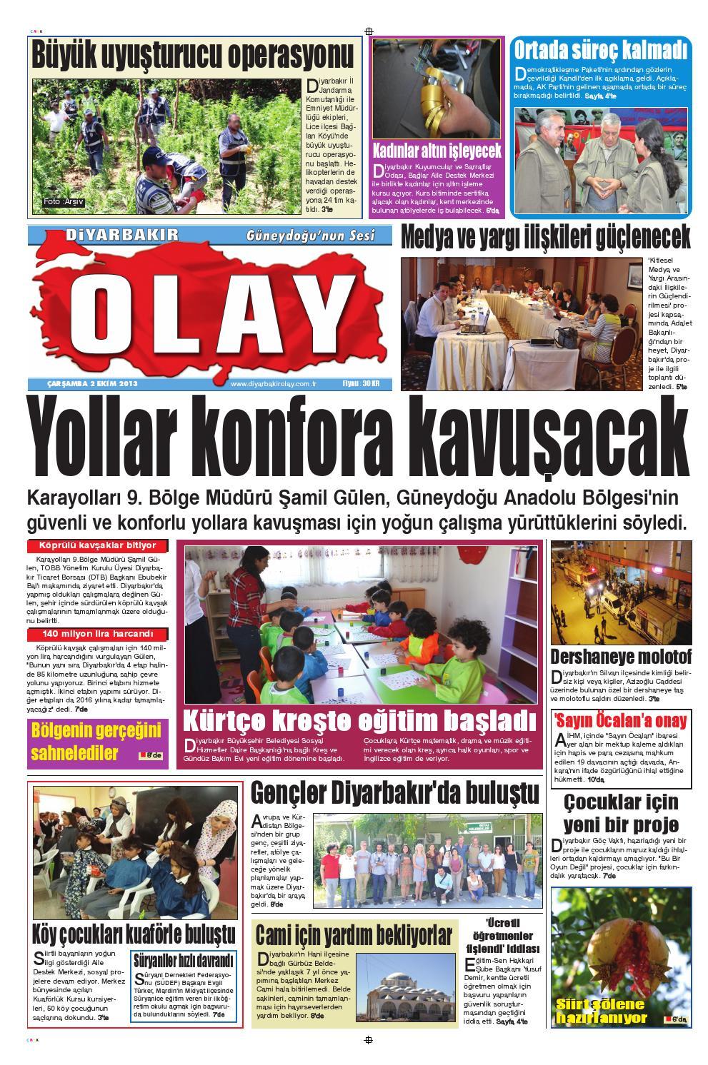 02 10 2013 Gazete Sayfalari By Diyarbakir Olaygazetesi Issuu