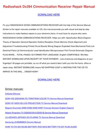 Radioshack Dx394 Cimmunication Receiver Repai by RomaReeder - issuu