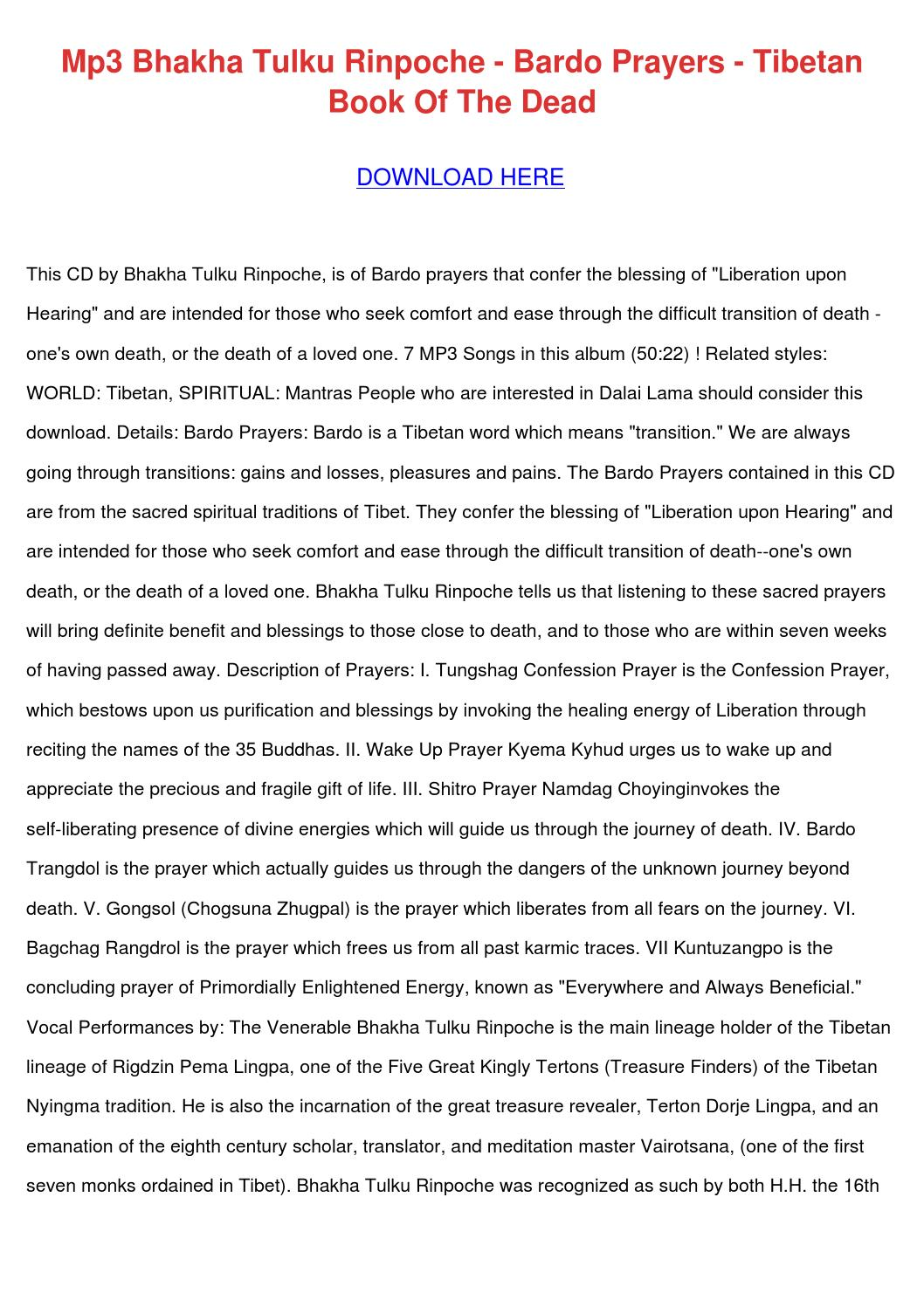 The Tibetan Book Of The Dead, Transitions To The Otherworld, Page 6