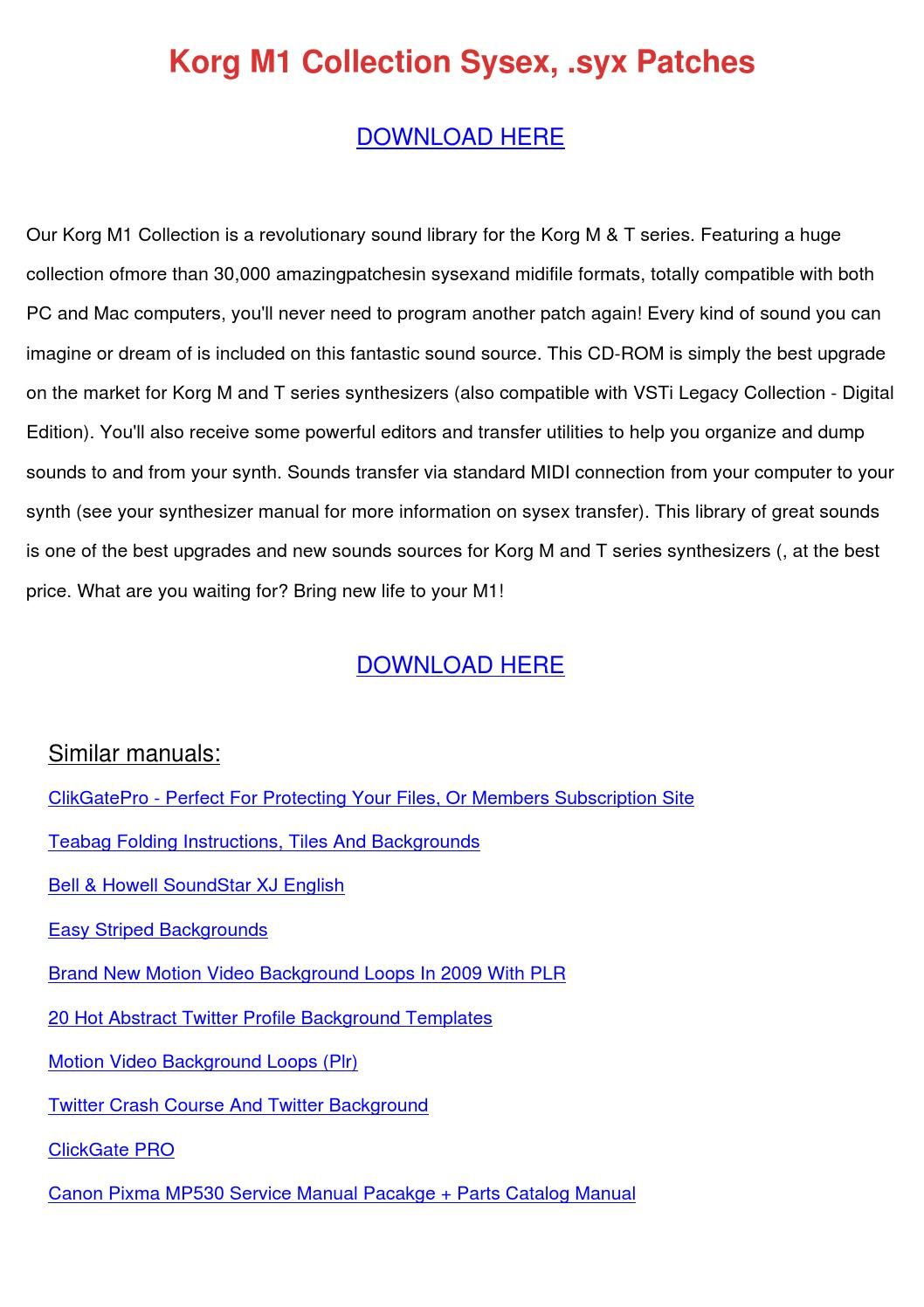 syx files korg m1 manual
