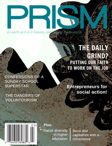 Faith at work by evangelicals for social action prism magazine issuu page 1 fandeluxe Gallery