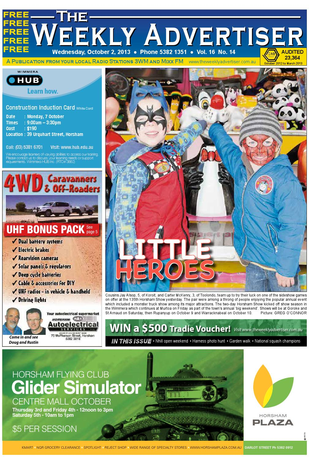 The Weekly Advertiser - Wednesday 58f363fc1