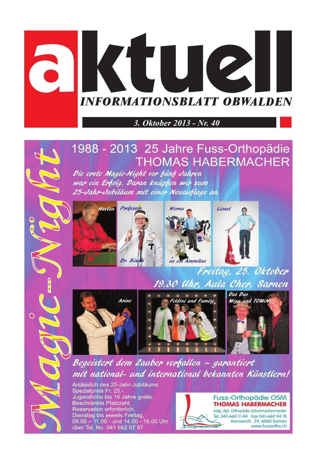 Aktuell Obwalden Nr. 40 2013 by Aktuell Obwalden AG issuu