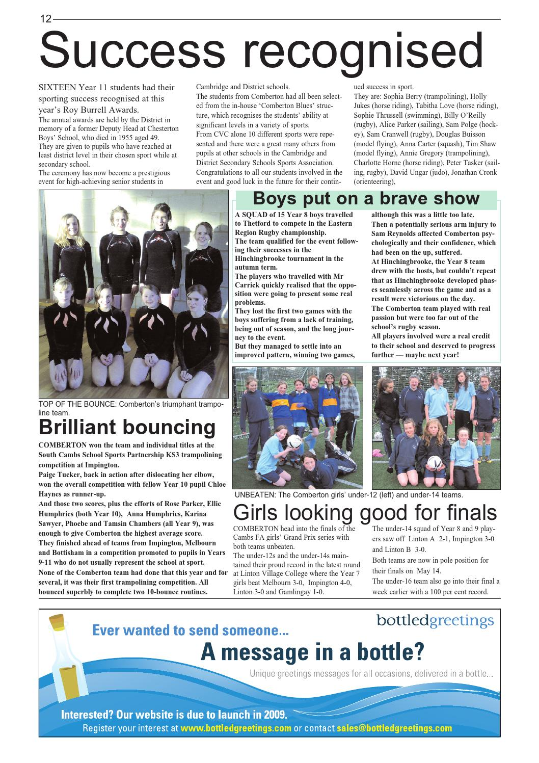 News@com spring 09 by The Cam Academy Trust - issuu