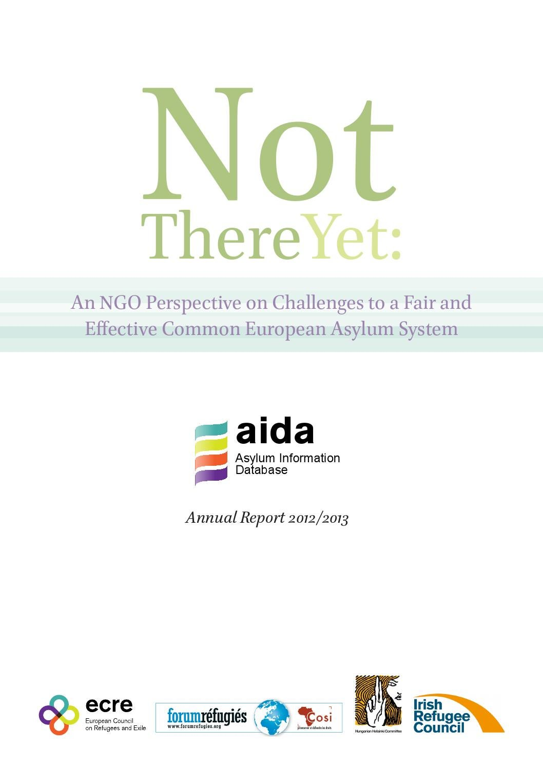 Not There Yet by European Country on Refugees and Exiles - issuu