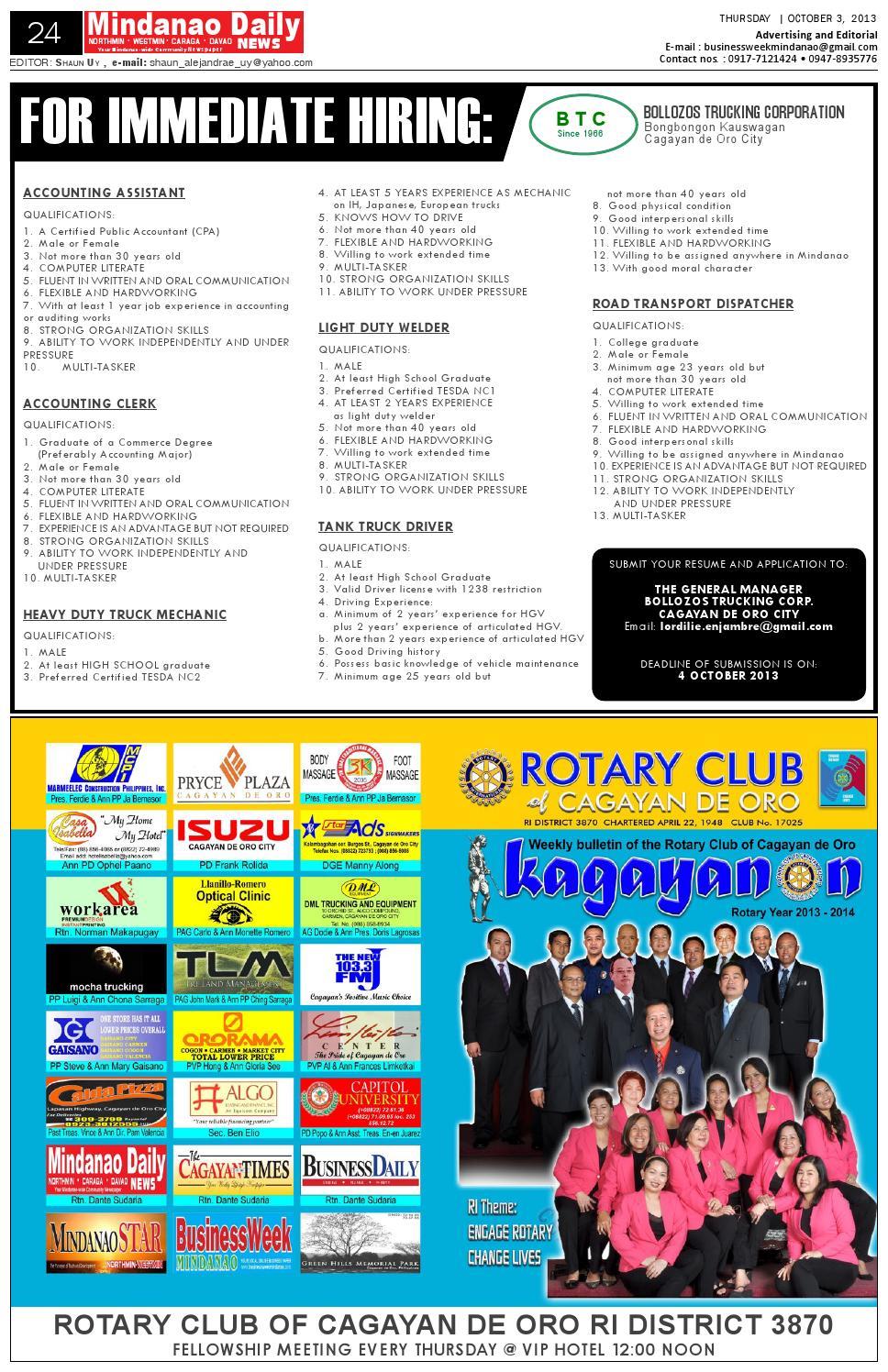 BusinessWeek Mindanao (October 3, 2013) by Mindanao Daily