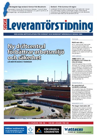 Svensk Leverantörstidning nr-4 2013 by Hexanova Media Group AB - issuu 3a6d9fbce52a8