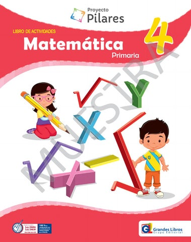 Proyecto Pilares - Matemática 4° - Libro de Actividades by Grandes ...