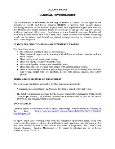 vacancy-notice-readvertised-26-9-13 by The Montserrat