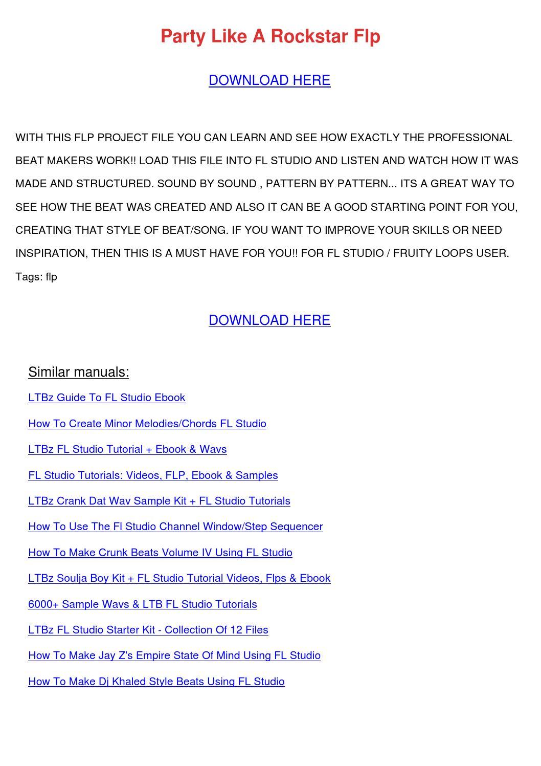 fruity loops user guide pdf