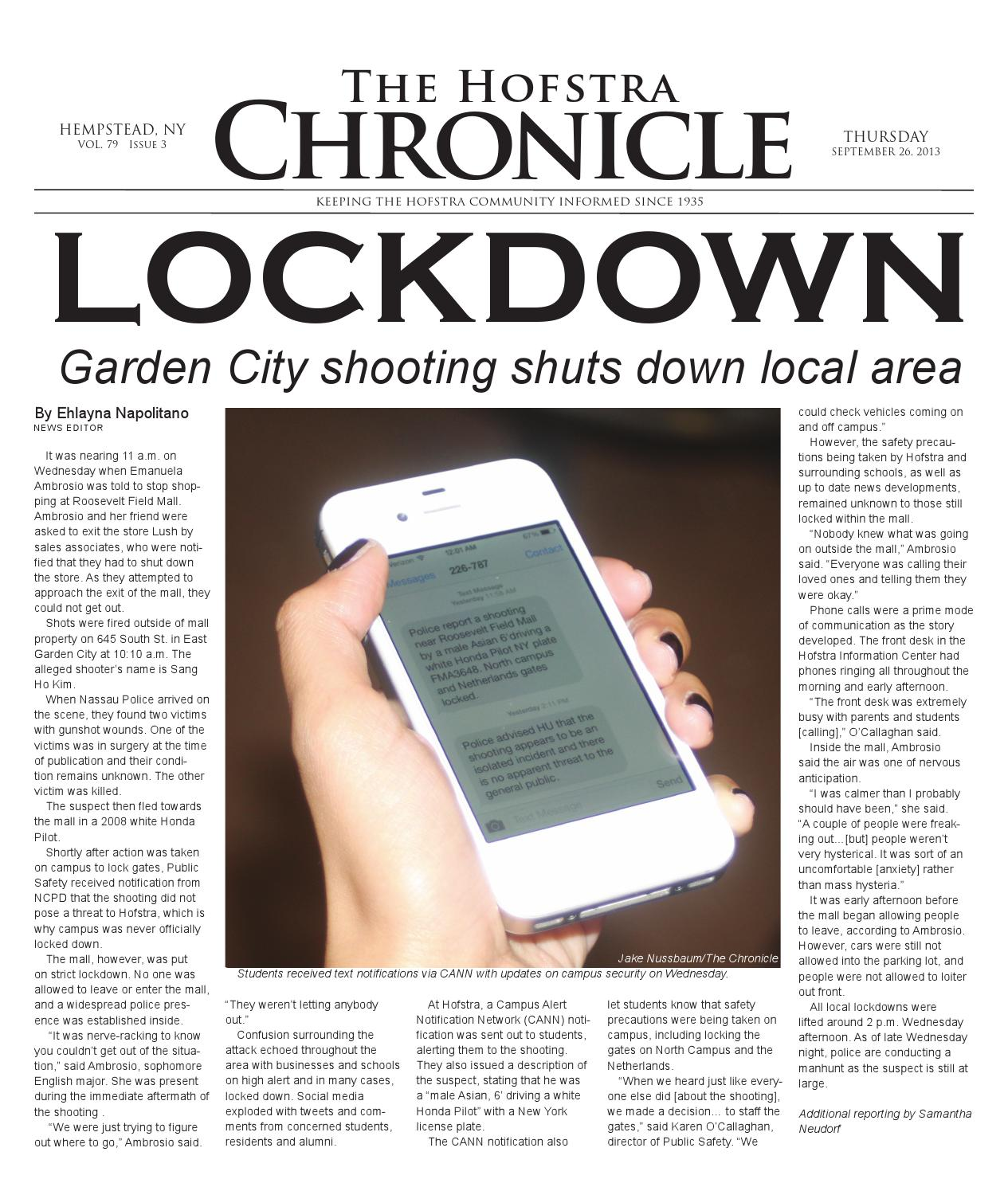 The Hofstra Chronicle: September 26th Issue