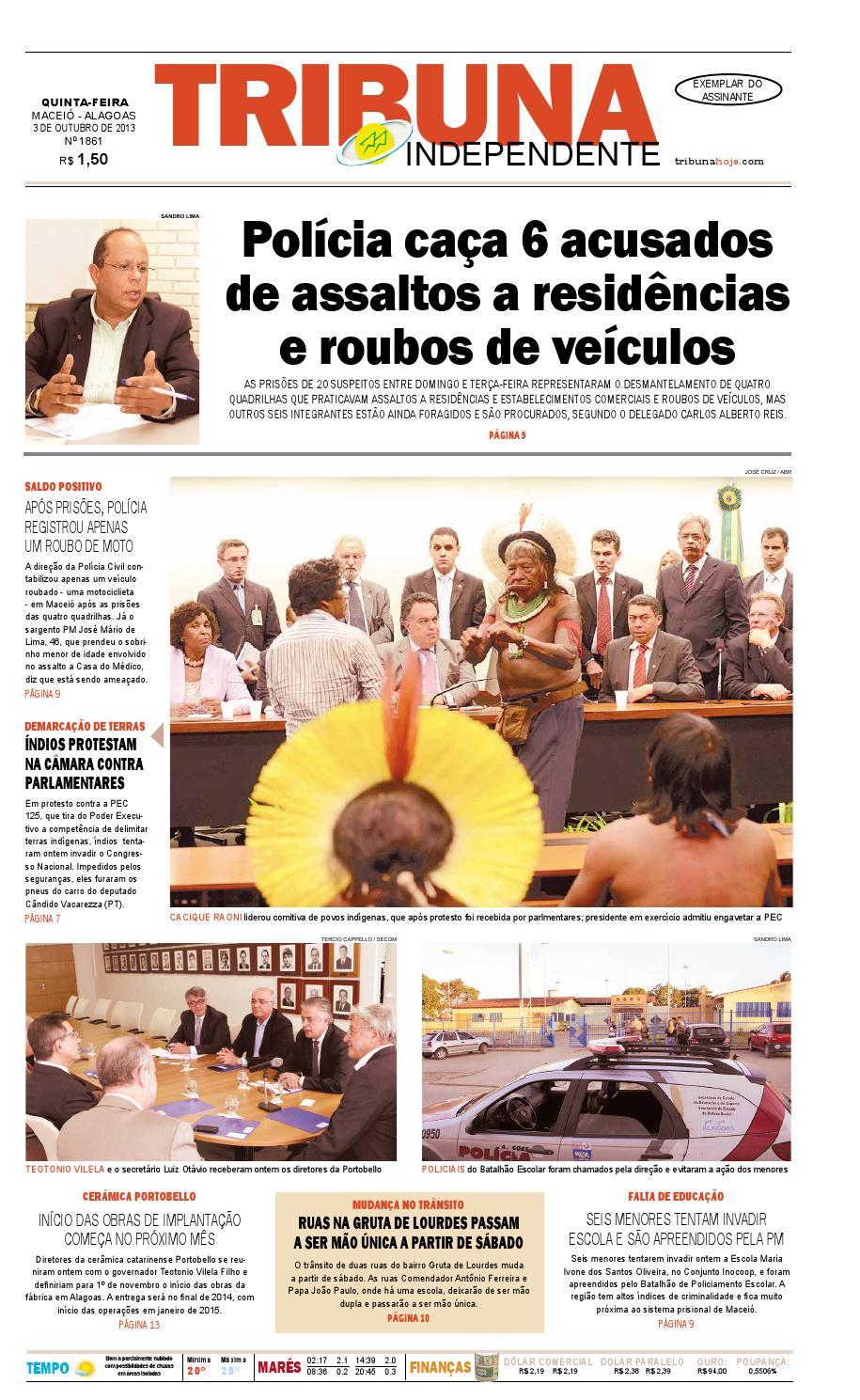 8d05e8c92e8 Edição número 1861 - 3 de outubro de 2013 by Tribuna Hoje - issuu