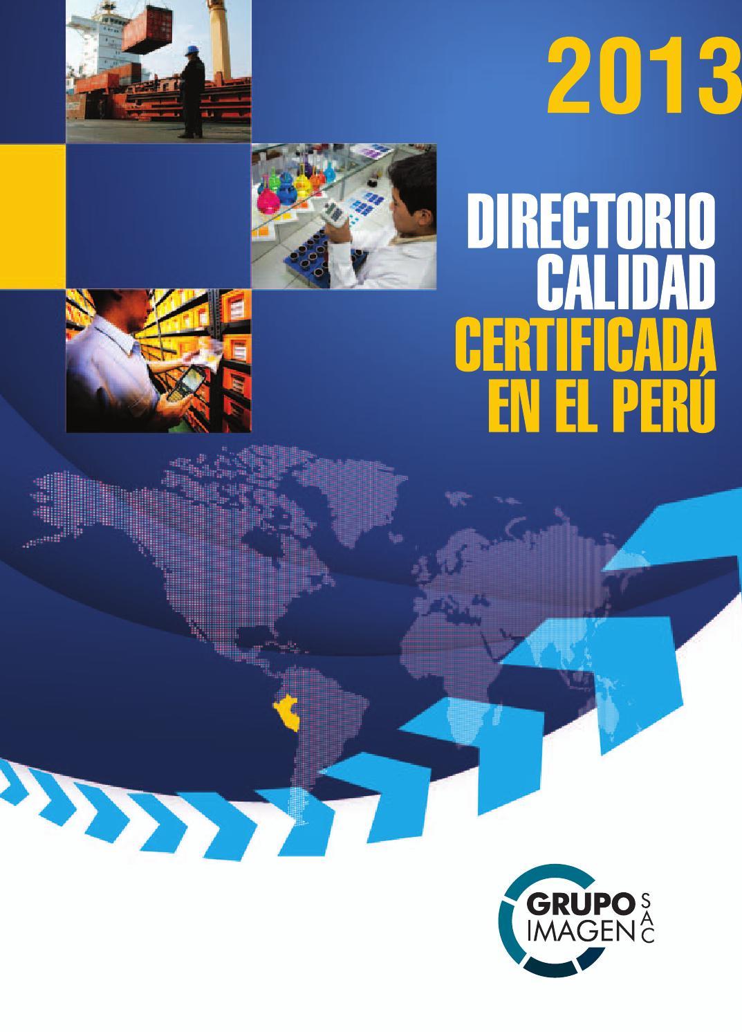 Directorio calidad certificada en el per 2013 by grupo for Lindley trabajo