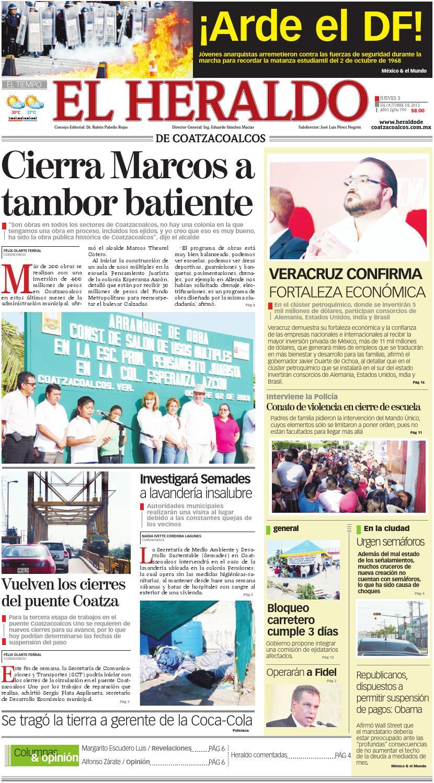 El Heraldo de Coatzacoalcos 3 de Octubre de 2013 by El Heraldo de ...