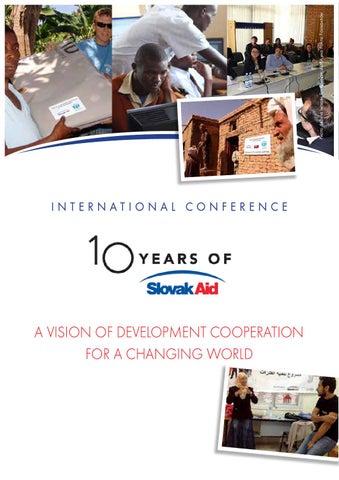 Program konferencie 10 rokov SlovakAid by Slovak Agency for