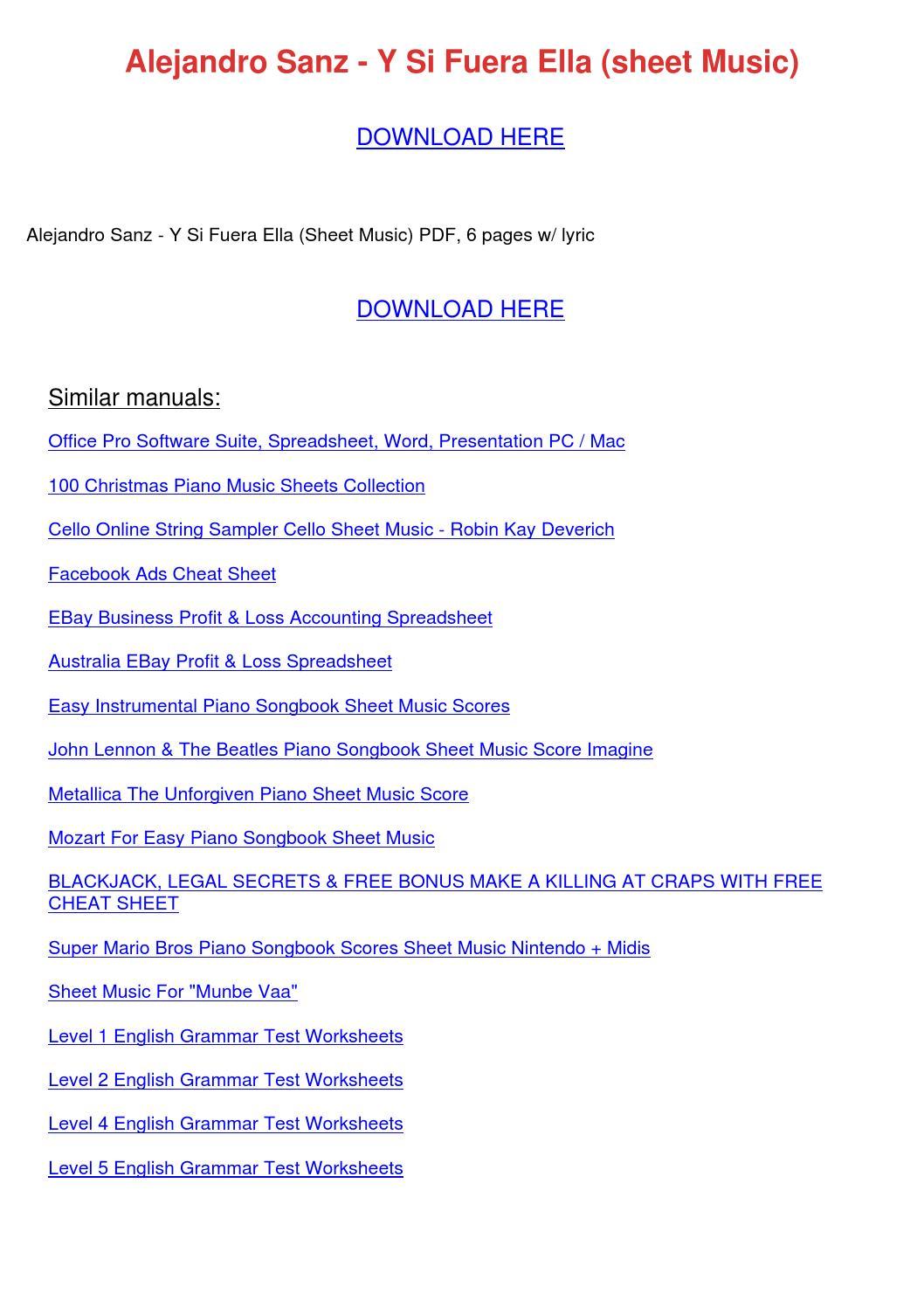 worksheet Forrest Gump Worksheet alejandro sanz y si fuera ella sheet music by kristinakeenan issuu