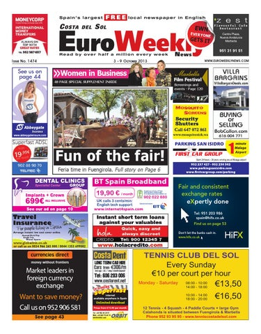 big sale a9726 03d12 Euro Weekly News - Costa del Sol 3 - 9 October 2013 Issue 1474 by ...