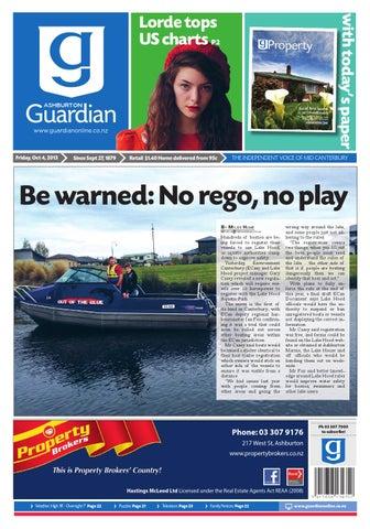 Ashburton Guardian, Friday, October 4, 2013