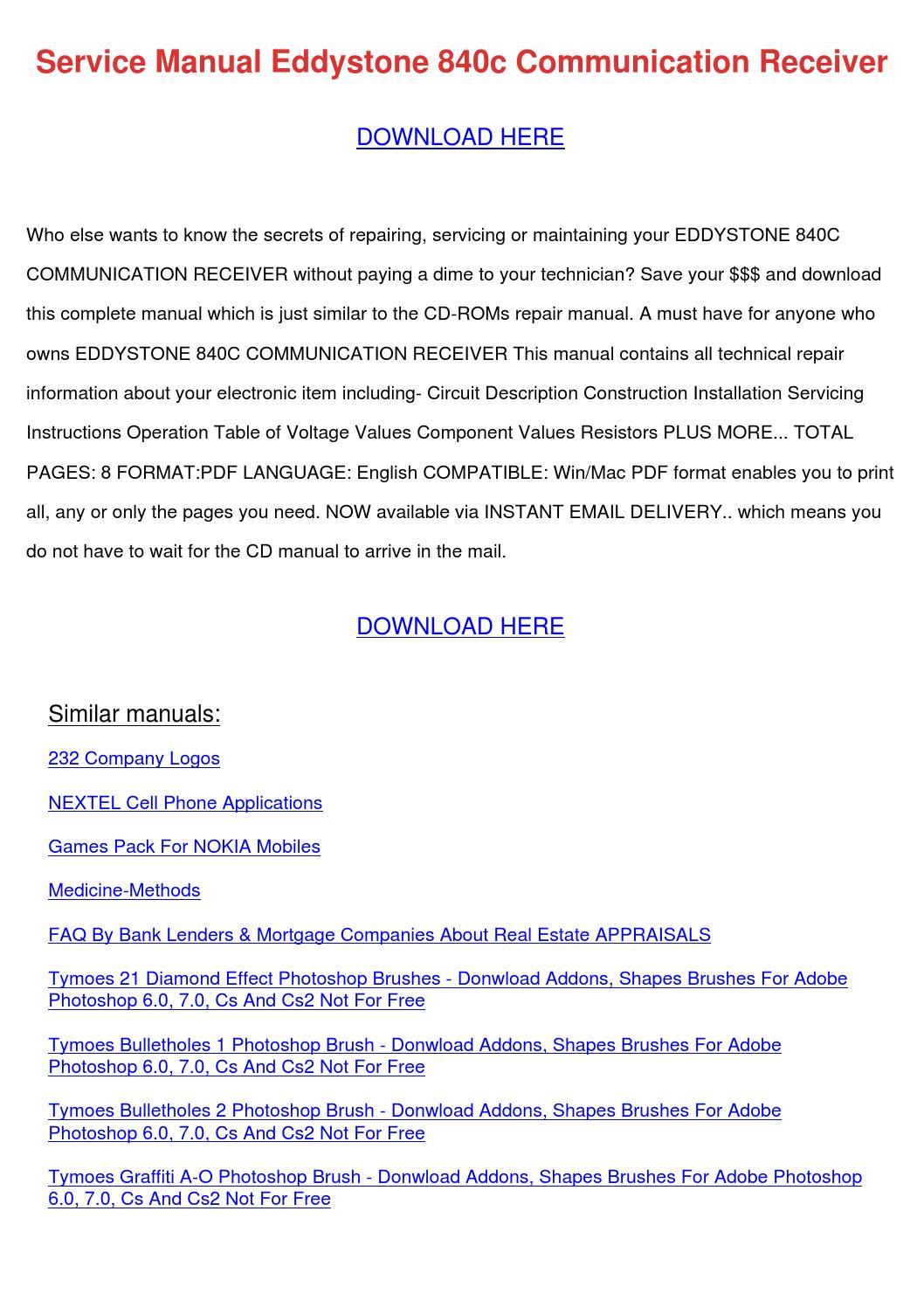 Cambridge 840c service manual – Free Download, Herunterladen Kostenlos