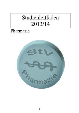 Studienleitfaden Pharmazie WS 1314 by OEH UNIGRAZ - issuu
