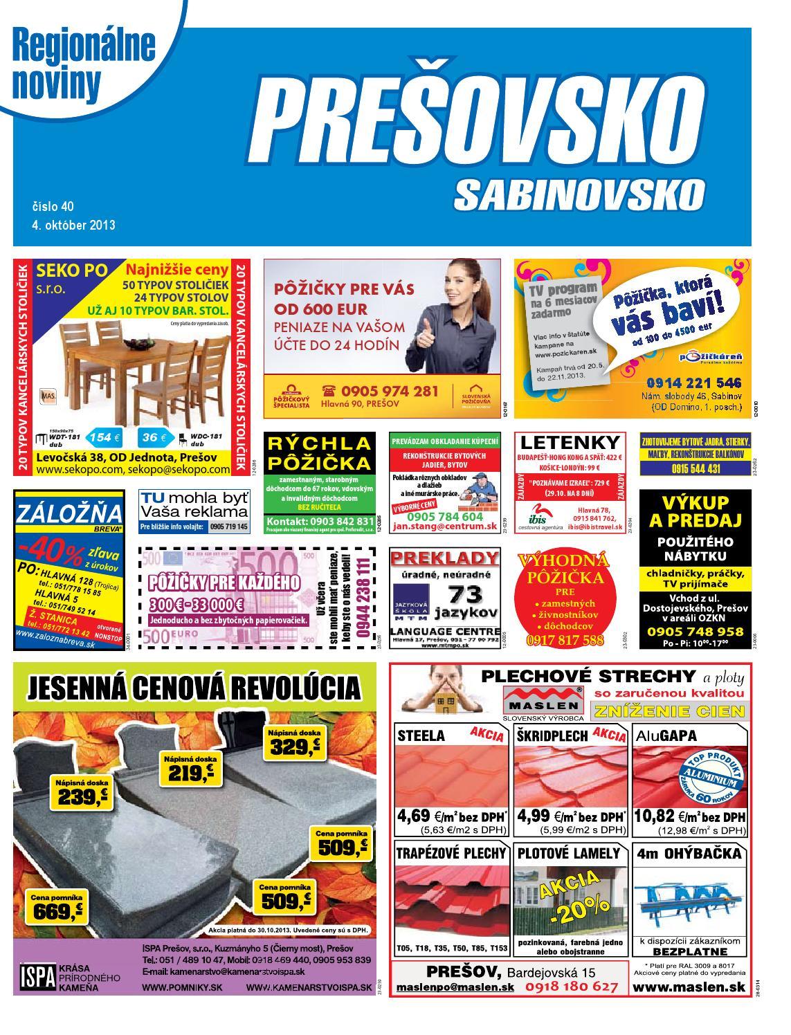 11ee356c3682 Presovsko 13-40 by presovsko presovsko - issuu