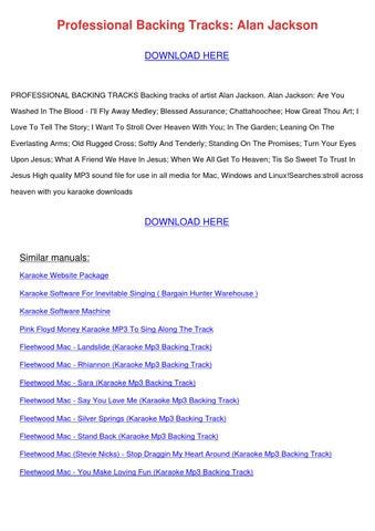 Professional Backing Tracks Alan Jackson By Kristiekimball
