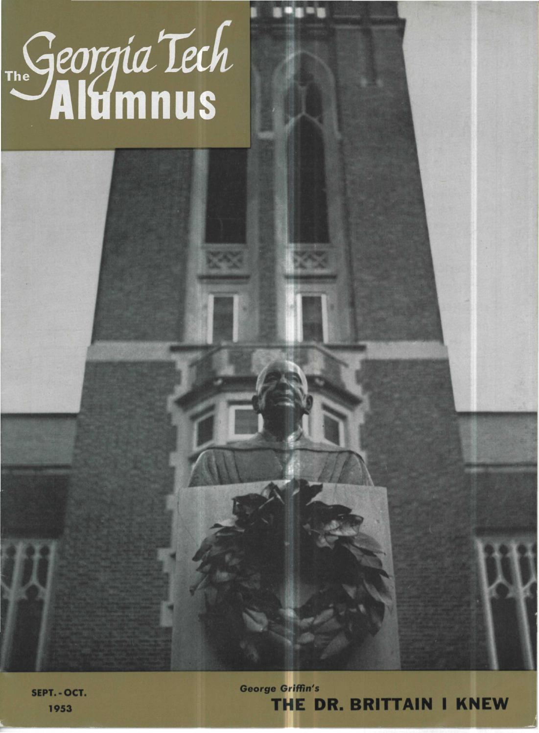 Georgia Tech Alumni Magazine Vol. 32, No. 01 1953 by ...