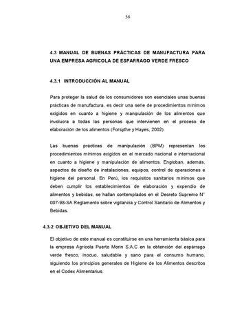 Bpm by eduardo kamus issuu for Buenas practicas de manipulacion de alimentos