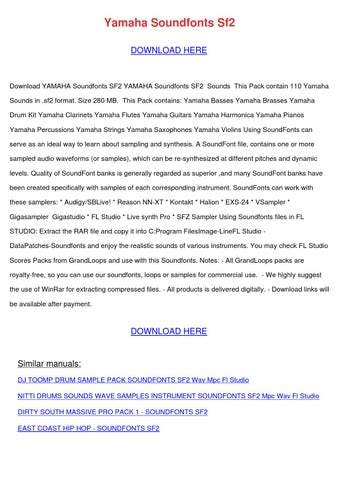 Yamaha Soundfonts Sf2 by SammieRose - issuu