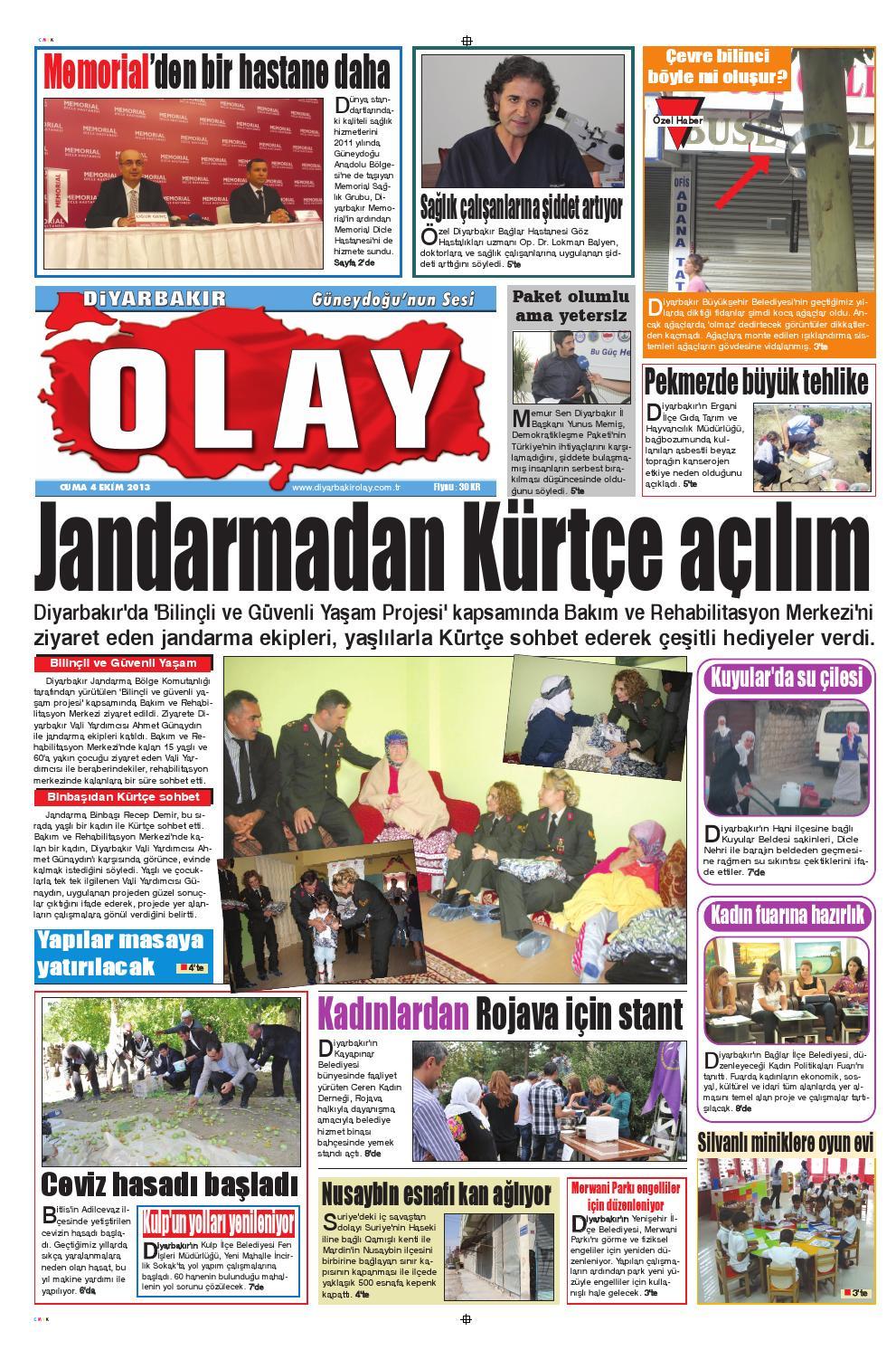 04 10 2013 Gazete Sayfalari By Diyarbakir Olaygazetesi Issuu