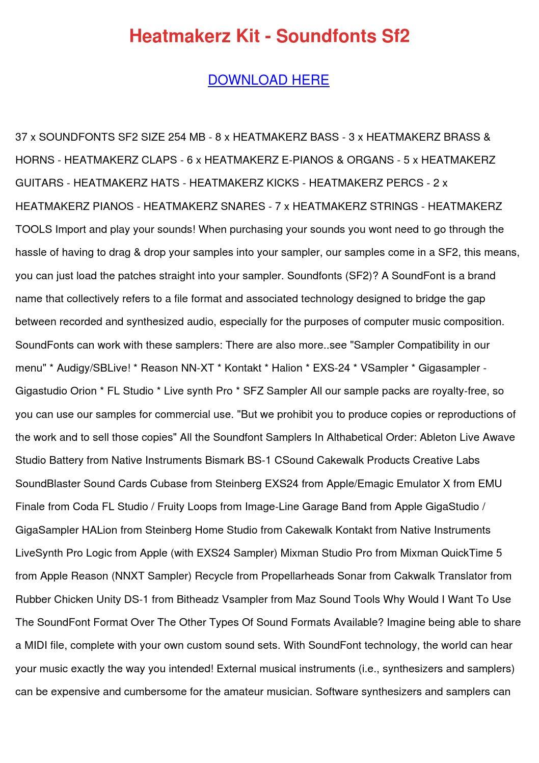 Heatmakerz Kit Soundfonts Sf2 by AlejandrinaWinfield - issuu