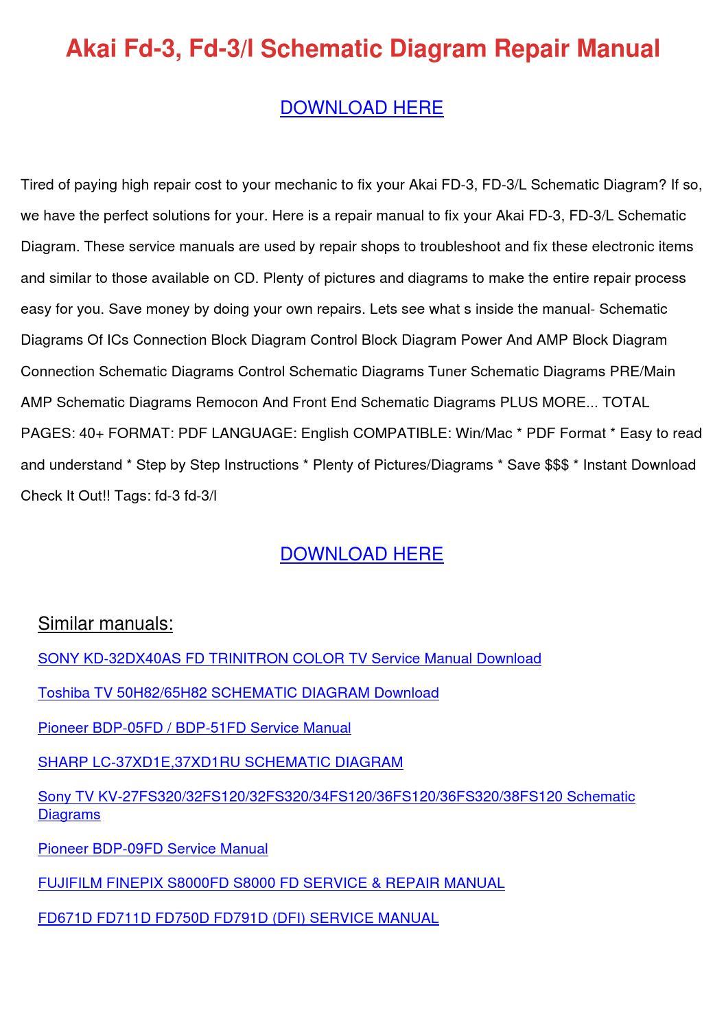 ... Array - akai fd 3 fd 3l schematic diagram repair manu by  kristoferkeeney issuu rh issuu ...