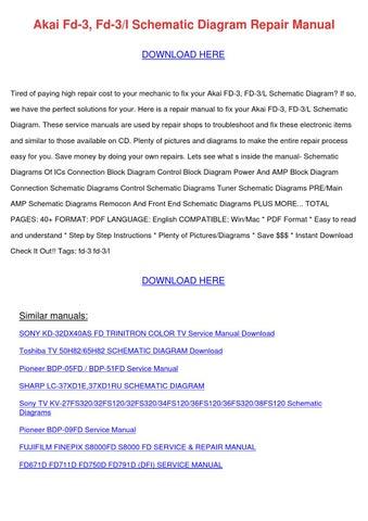 Akai Fd 3 Fd 3l Schematic Diagram Repair Manu by KristoferKeeney ...