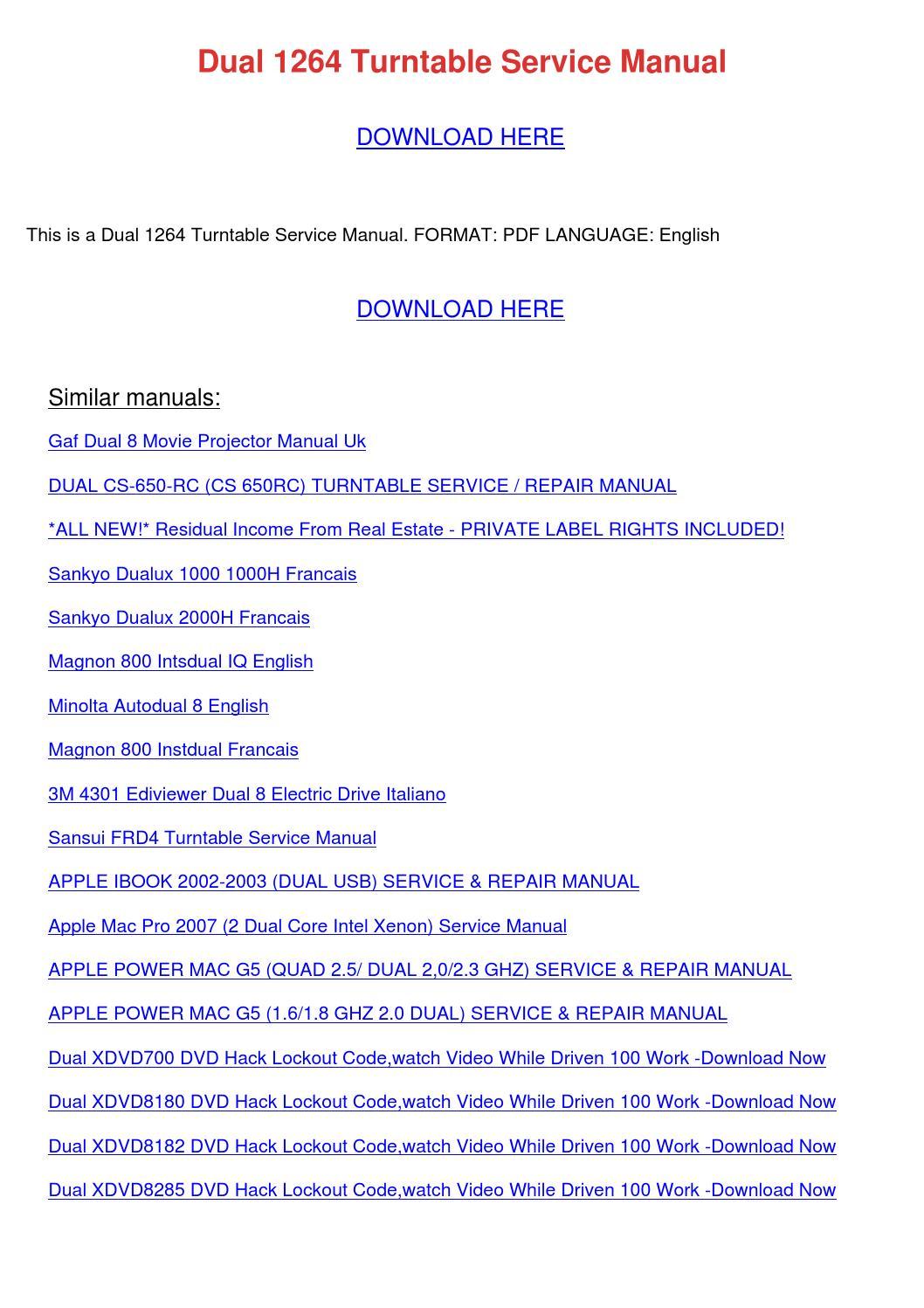 get ready for ios 12 Array - dual 1264 turntable service manual by  kristoferkeeney issuu rh issuu ...