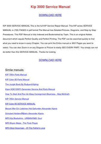 kip 7700 service manual