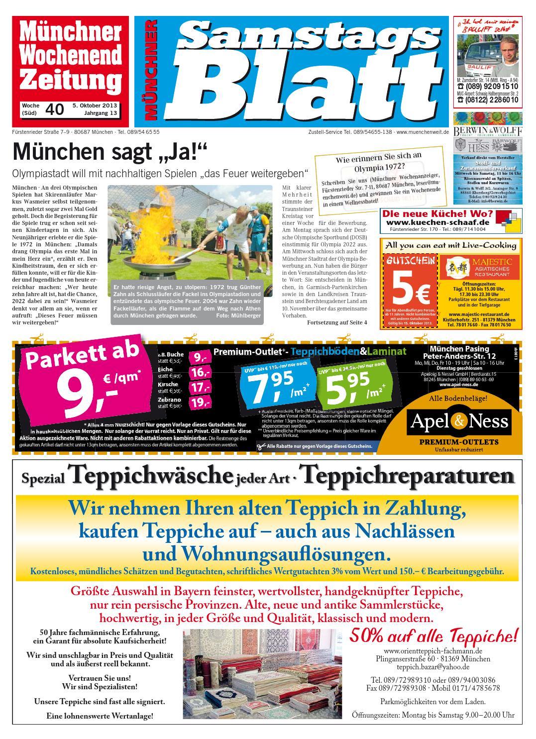 Kw 40 2013 By Wochenanzeiger Medien Gmbh Issuu