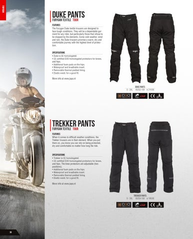 Furygan Duke Textile Motorcycle Trousers